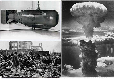 نخستین شهری که توسط آمریکا بمباران اتمی شد کدام است؟