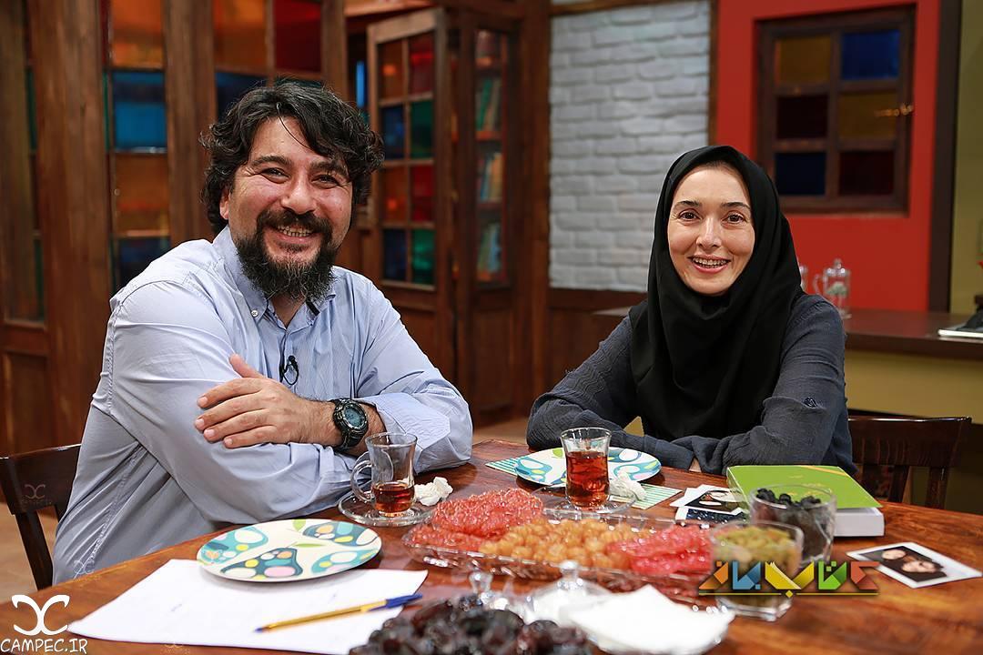آتنه فقیه نصیری و امیر حسین صدیق در برنامه کتاب باز