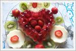 تزیین ژله با میوه های تازه