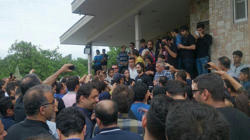 عکس های تشییع پیکر مرحوم حبیب از مقابل منزلش , اخبار فرهنگ وهنر