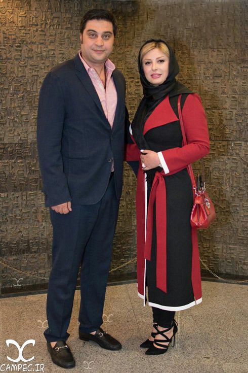 نیوشا ضیغمی و همسرش در مراسم تقدیر از ملی پوشان والیبال