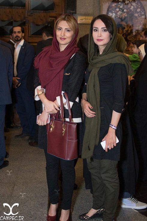 مریم خدارحمی و سمیرا حسینی در مراسم تقدیر از ملی پوشان والیبال