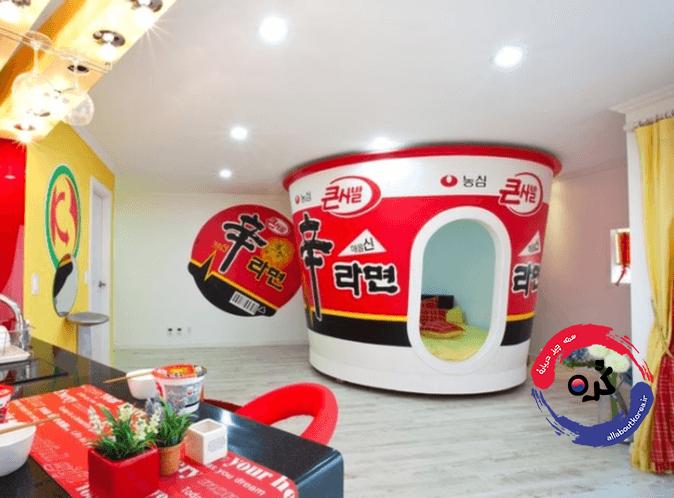 دیزاین های زیبا و عجیب اتاق ها در کره