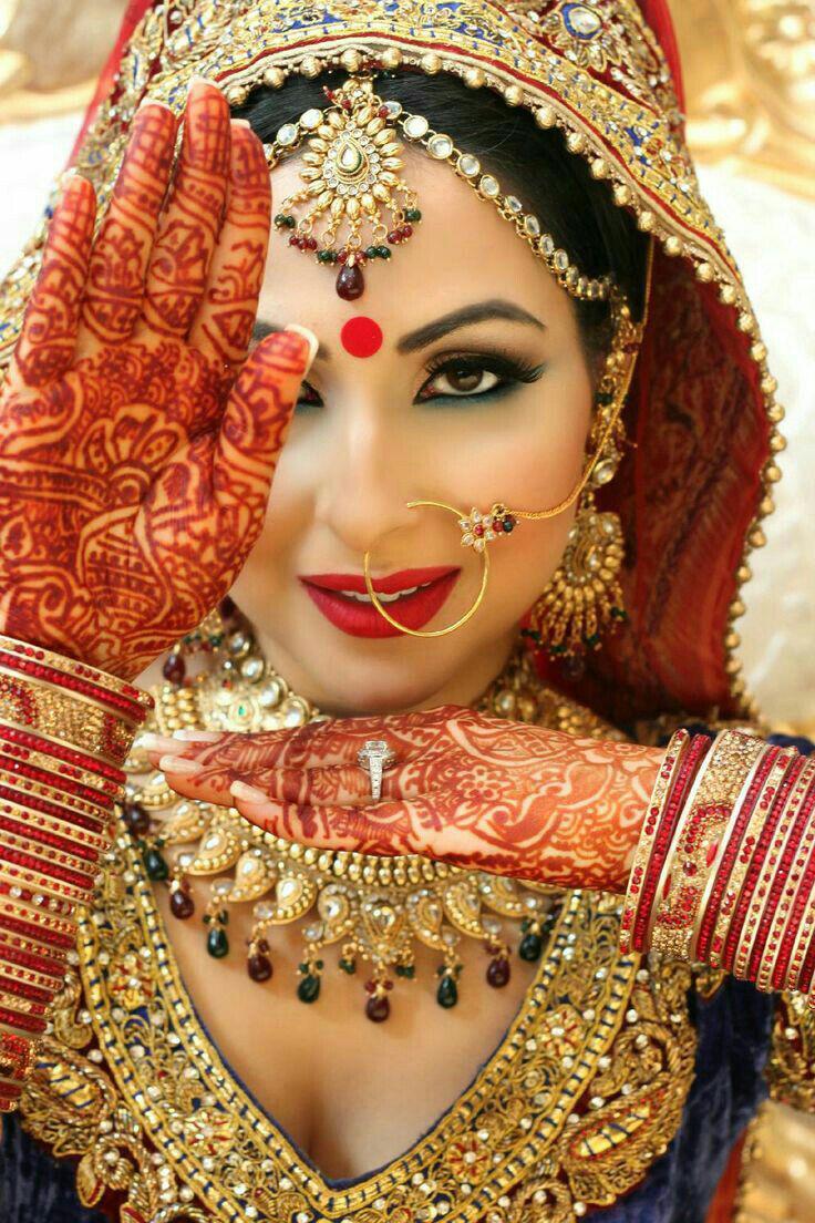مدل بسیار زیبا و خوشگل آرایش عروس هندی 2016