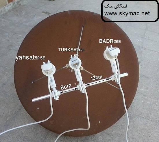 آموزش نصب ماهواره(Yahsat-1A (52.5° East
