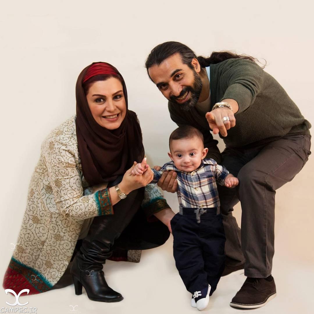 عکسهای جدید ماه چهره خلیلی همراه خانواده