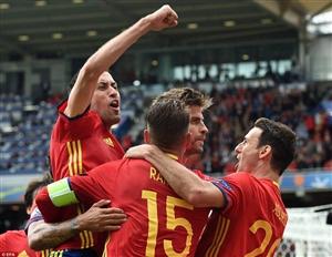 نتیجه خلاصه بازی دیشب و گلهای اسپانیا ترکیه 28 خرداد 95