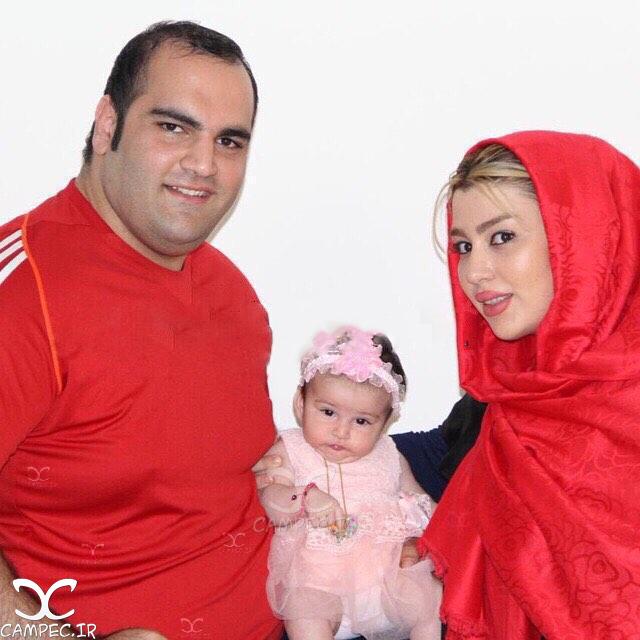 عکس بهداد سلیمی با همسر و دخترش