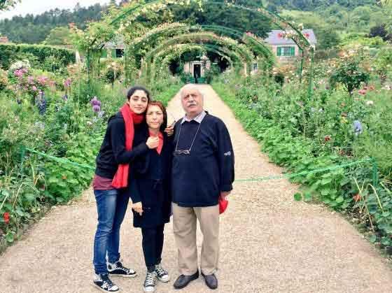 گلشیفته فراهانی و پدر و مادرش در اروپا +عکس , چهره های ایرانی
