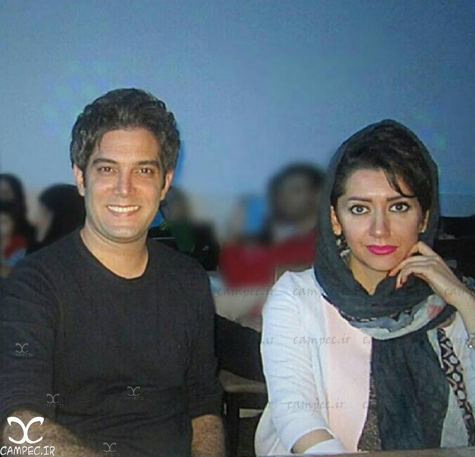 عکس امیر علی نبویان با همسرش