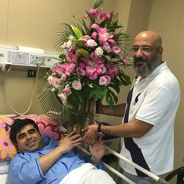 عیادت بازیگران از امیر نوری در بیمارستان + عکس , اخبار فرهنگ وهنر