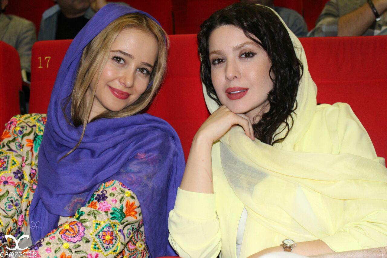 الناز حبیبی و نازنین کریمی در اکران خصوصی فیلم زاپاس