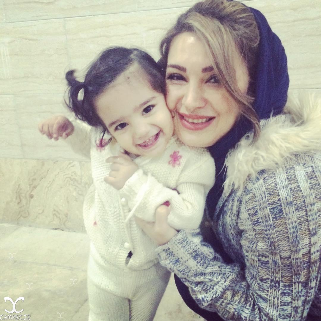 مهشید حبیبی و دخترش