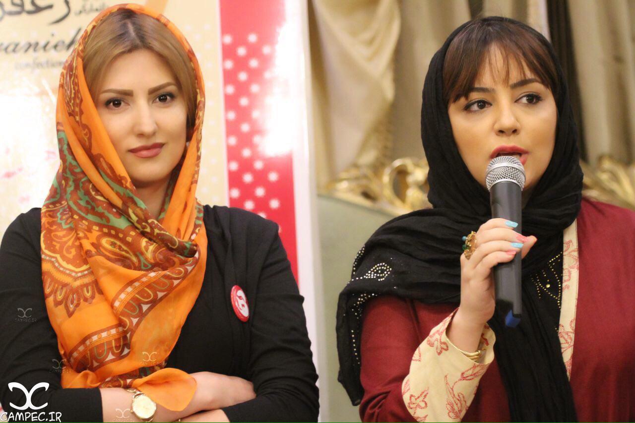 لیلا برخورداری و سمیرا حسینی در جشن گلريزان بنياد نيك