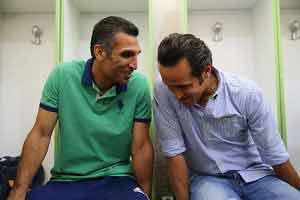 شوخی هاشمینسب و علی کریمی +عکس , اخبار ورزشی