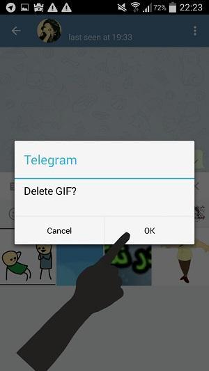 آموزش تصویری حذف گیف Gif از تلگرام اندروید