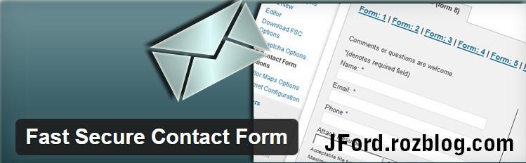 افزونه ی ساخت فرم تماس با ما ایمن Fast Secure Contact Form برای وردپرس