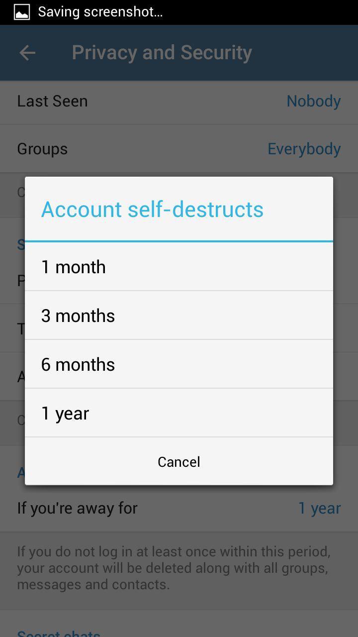 حذف حساب کاربری تلگرام