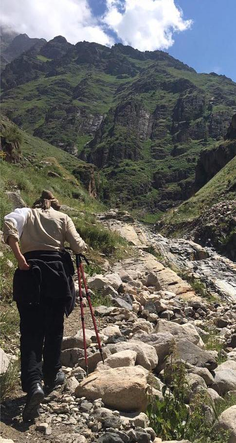 تیپ جالب هدیه تهرانی درحال کوهنوری , عکس بازیگران