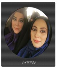 مونا فرجاد و آشا محرابی در پشت صحنه سریال آرام میگیریم/عکسها