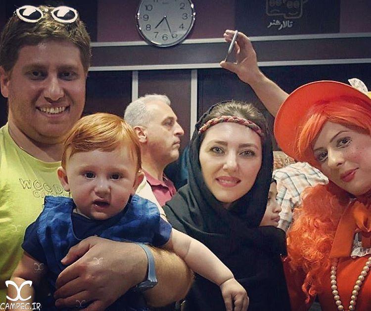 مهسا کرامتی و همسرش راما قویل و پسرش امیرمانی