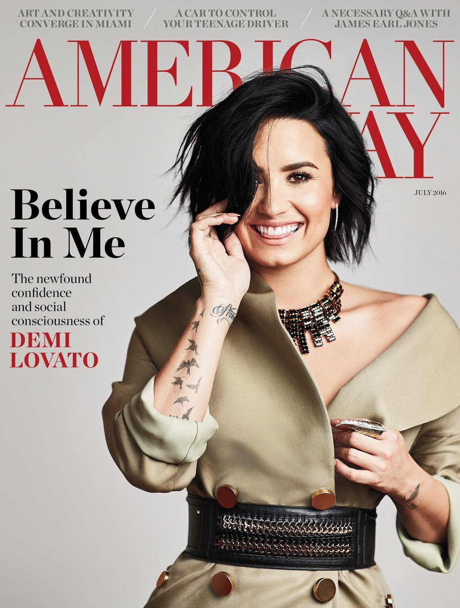 فوتوشات های دمی لواتو برای مجله American Way