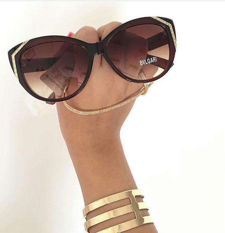 عینک بولگاری فریم قهوه ایی زنانه