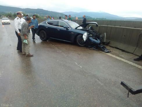تصادف ماشین پورشه در سواد کوه , حوادث