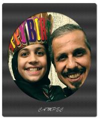 جواد رضویان در کنار دختر و پدرش در روز تولد دخترش+عکس