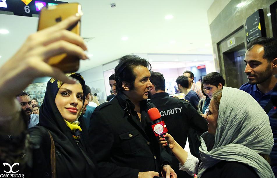 حسام نواب صفوی در اکران مردمی فیلم چهارشنبه