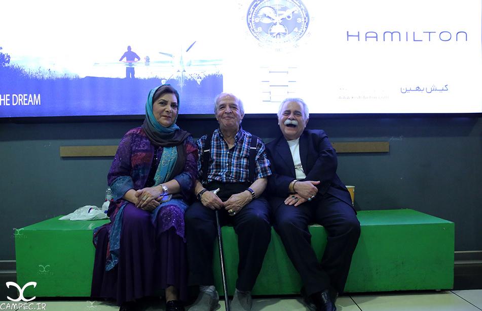 محسم قاضی مرادی و مهوش وقاری در اکران مردمی فیلم چهارشنبه