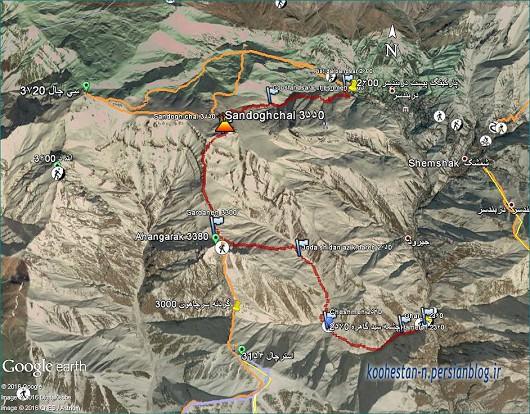 مسیر قله صندوق چال
