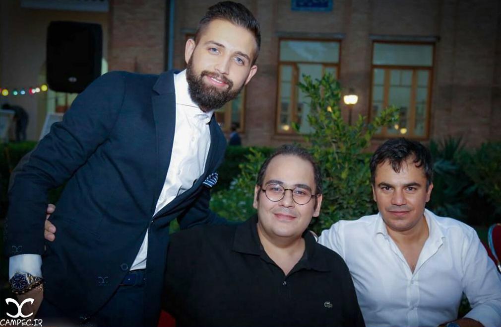 محسن افشانی و رضا داود نژاد در مراسم افطاری سیمای مهر