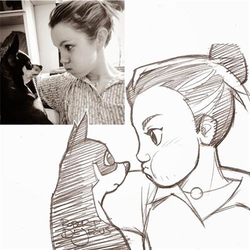 17_Robert_DeJesus_Selfies_made_into_Animé_Drawings_www_designstack_co.jpg (550×550)