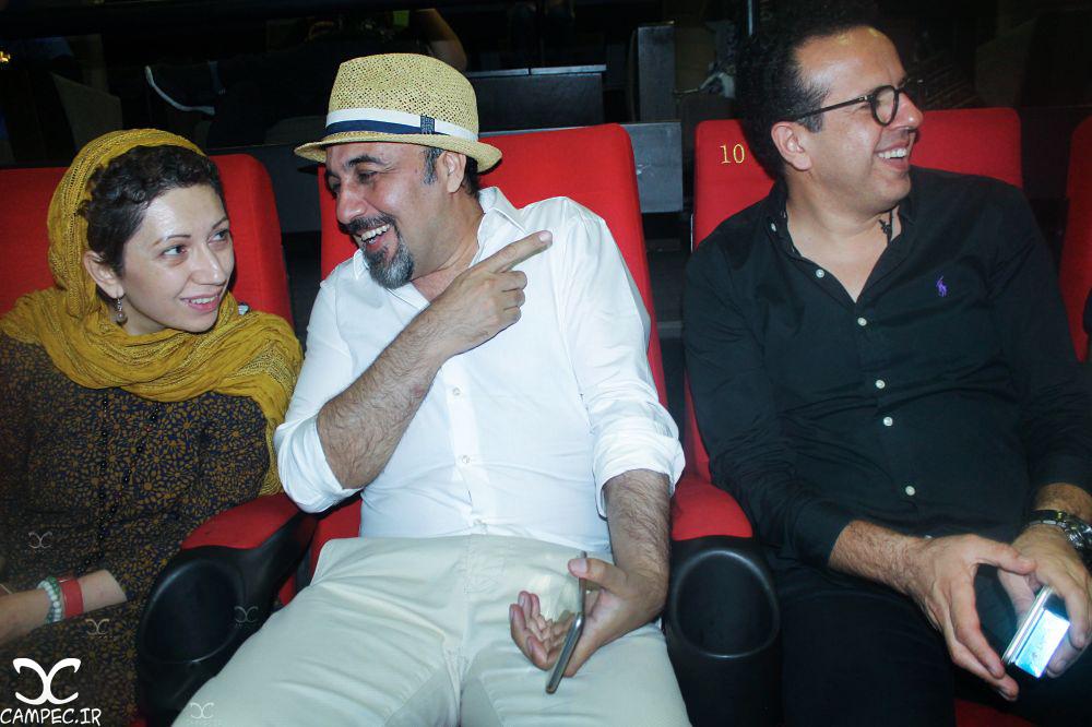 رضا عطاران و همسرش در اکران فیلم دراکولا