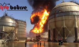 خسارت آتشسوزی در پتروشیمی ماهشهر
