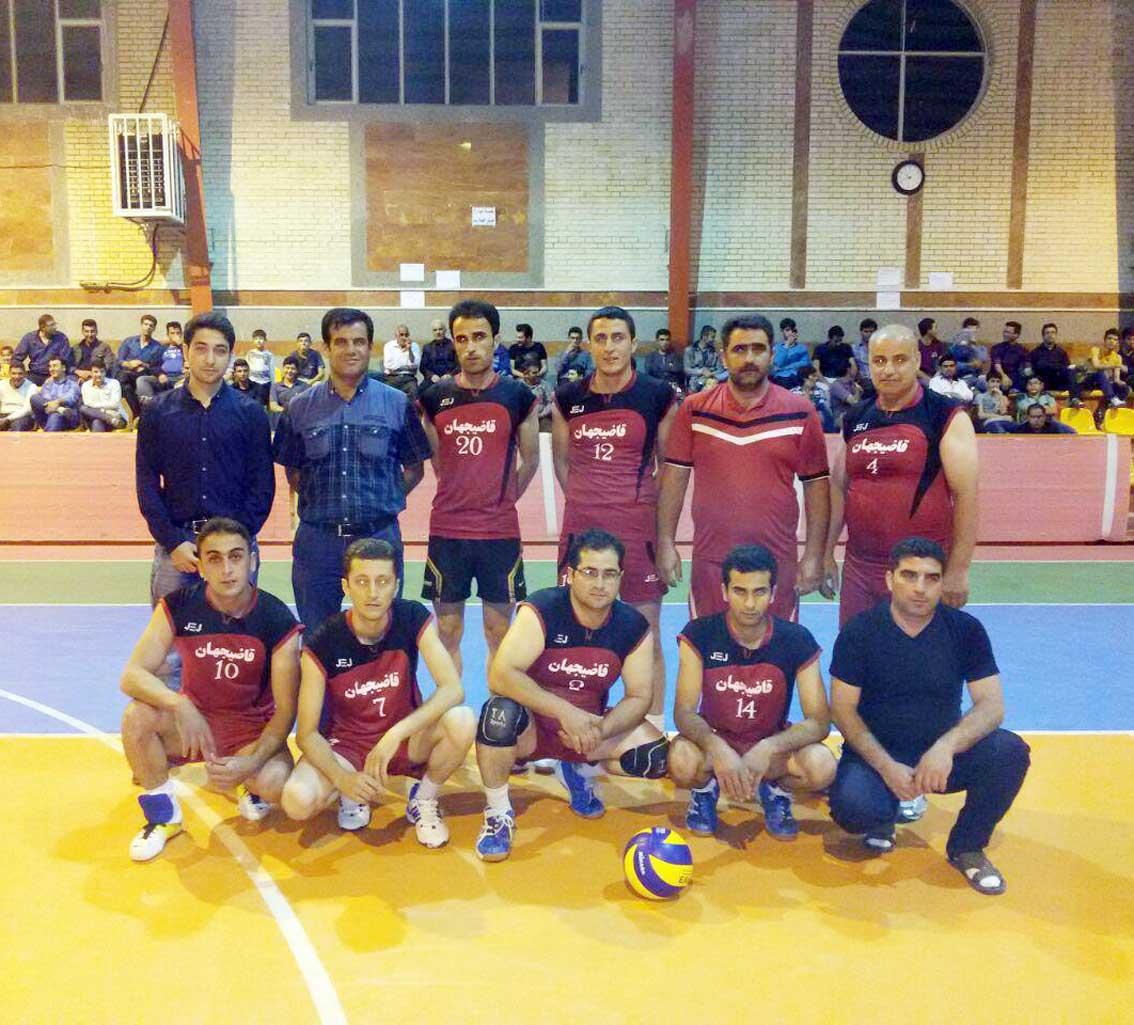 تیم والیبال محبت قاضی جهان مسابقات جام رمضان قاضی جهان سال 1395