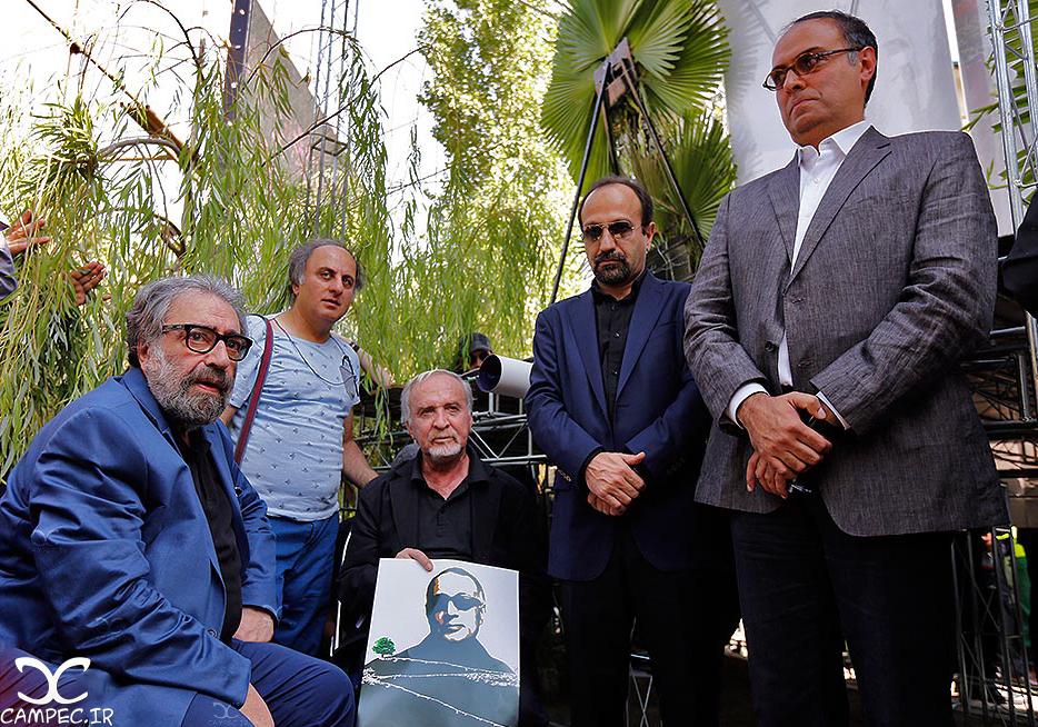 هنرمندان در مراسم خاکسپاری عباس کیارستمی