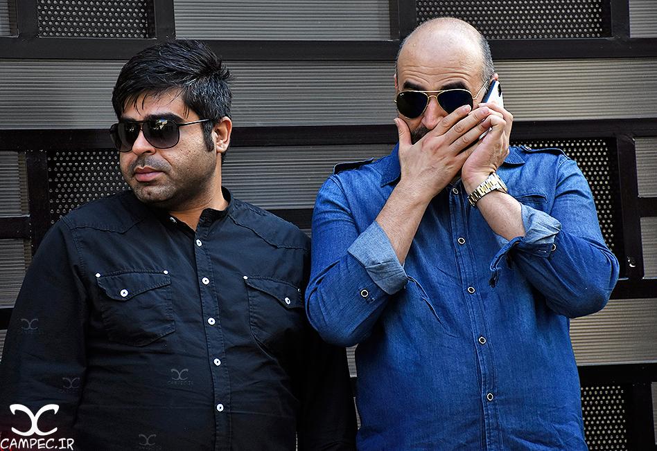 علی مسعودی و امیر نوری در تشییع پیکر ملیحه نیکجومند