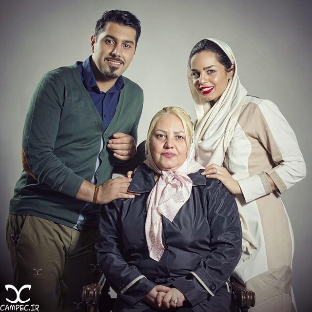احسان خواجه امیری با همسرش لیلا ربانی