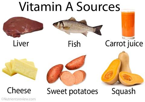 غذاهایی که دارای ویتامین A هستند