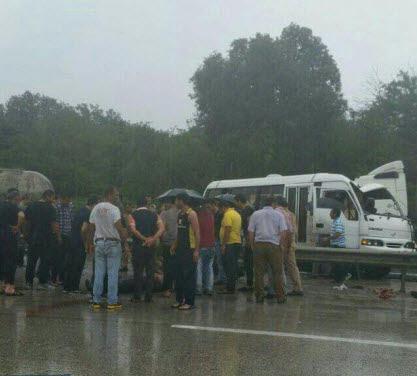 تصادف سربازان در نوشهر