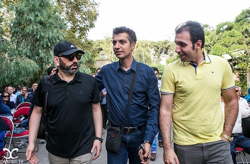 عادل فردوسی پور و حبیب رضایی در مراسم یادبود عباس کیارستمی