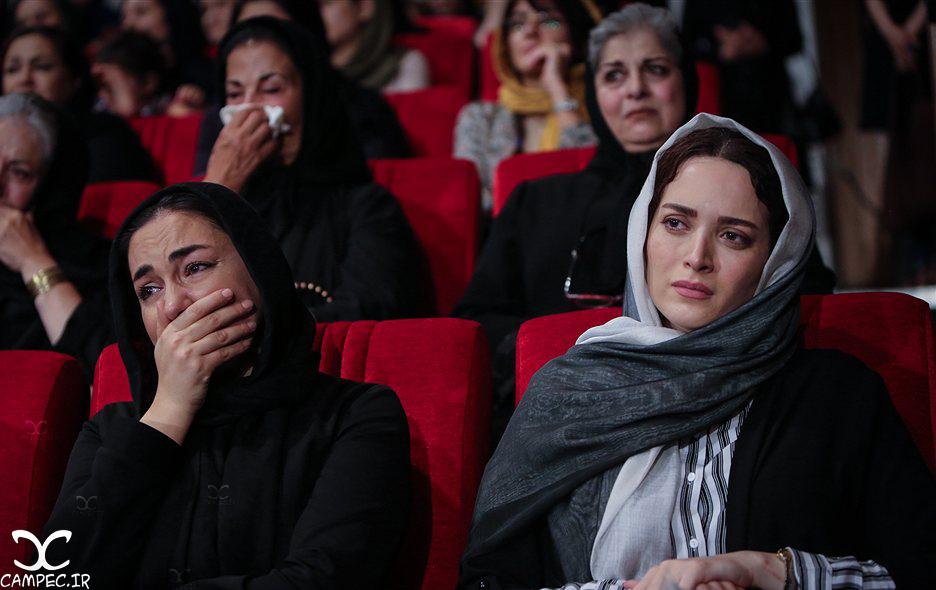 بهنوش طباطبایی و هانیه توسلی در مراسم یادبود عباس کیارستمی