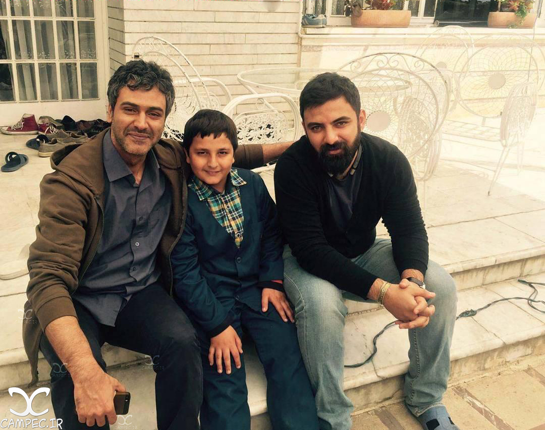 عمار تفتی و محمد رضا شیرخانلو سر صحنه سریال پریا