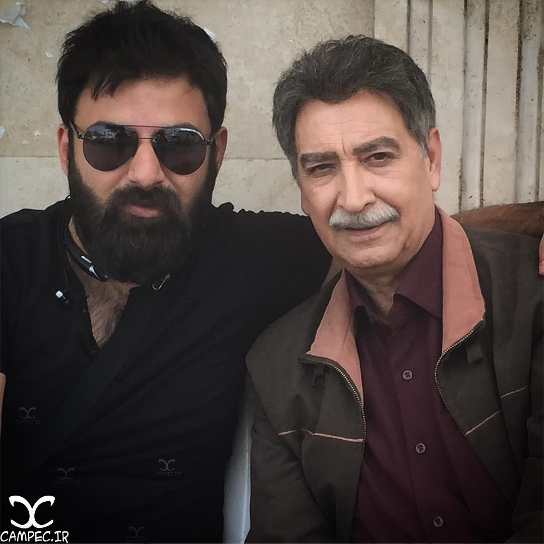 محمود پاک نیت در پشت صحنه سریال پریا