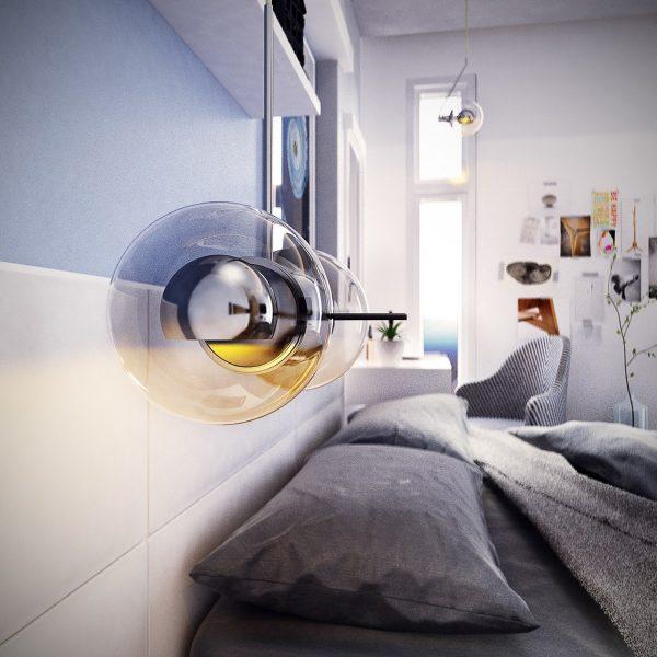 طراحی اتاق خواب آبی