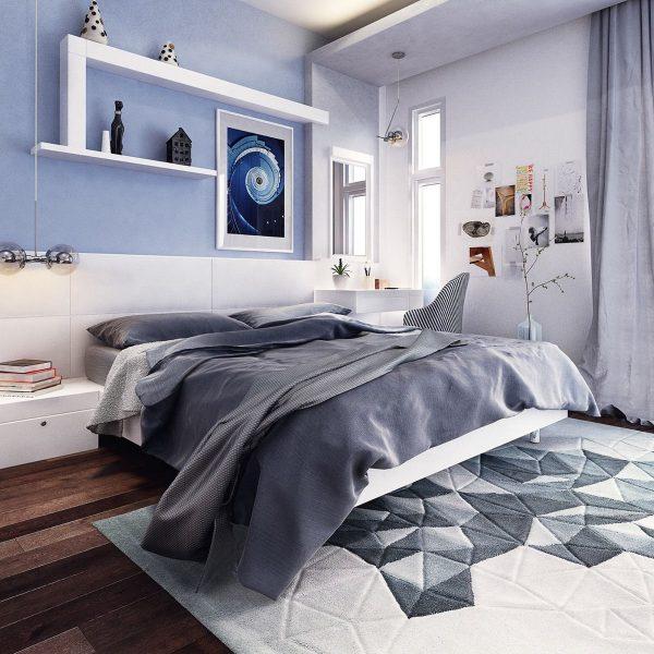 اتاق خواب به رنگ آبی