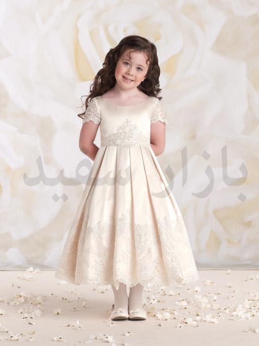 مدل لباس عروس شکوفه دار بازار سفید - گالری لباس عروس بچه