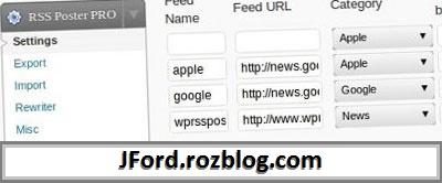 افزونه خبرخوان RSS POSTER Pro نسخه 0.8.8 برای وردپرس